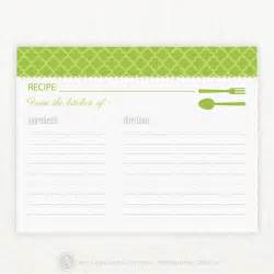 blank recipe template recipe index card template images