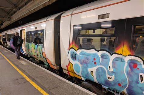 train graffiti epidemic blamed  health  safety