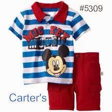 Setelan Overall Celana Denim Disney Baby Mickey Original Blue baju bayi dan anak baju anak laki laki