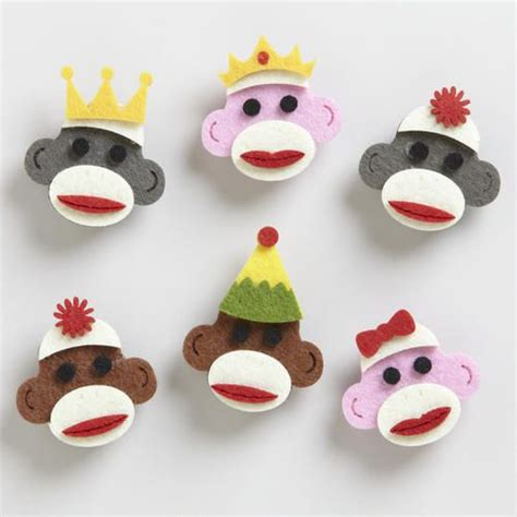 diy sock monkey easy felt sock monkey magnets easy diy craft for