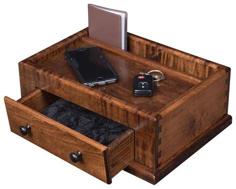 men s wooden dresser top valet cherry or oak men s valet box from dutchcrafters amish