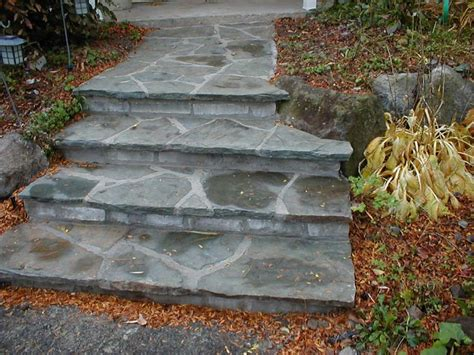flagstone steps hardscape pinterest