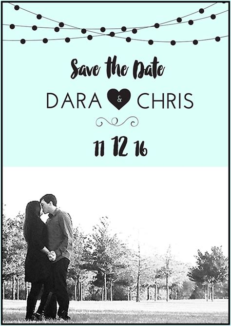 free save the date template free save the date templates diy save the date tutorial