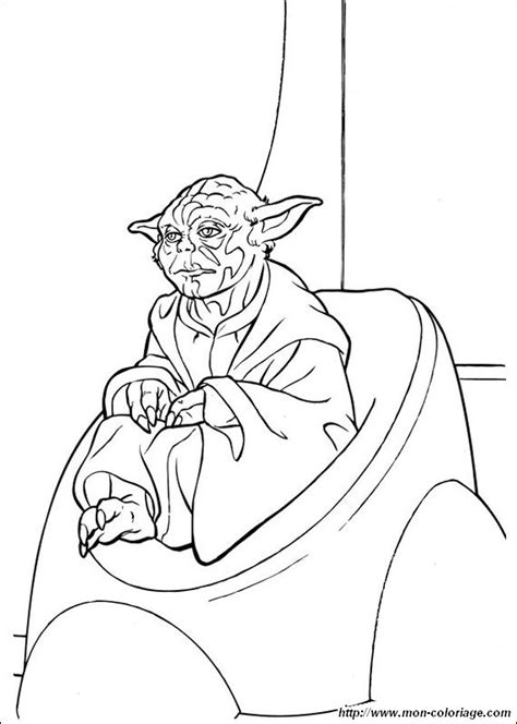 free coloring pages of yoda