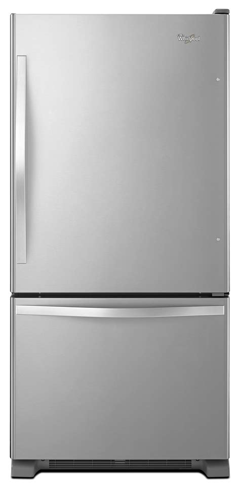 Single Drawer Refrigerator by Whirlpool 19 Cu Ft Single Door Bottom Freezer