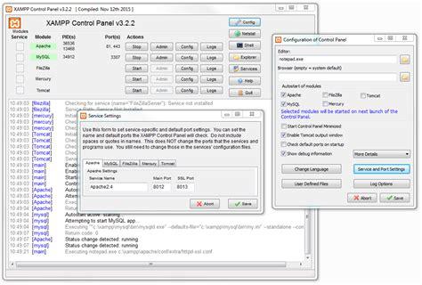 configure xp apache port how to change xampp apache server port apache