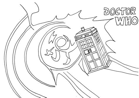 dr who tardis line art by whitestarflower on deviantart
