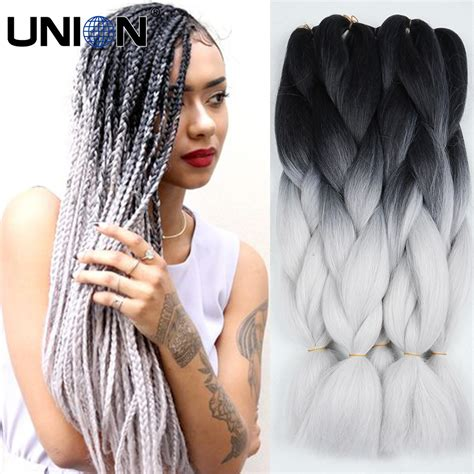 grey hair braid extensions aliexpress com buy 100g synthetic crochet braids hair