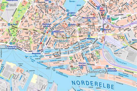 Hamburg Karte by Hamburg Karte Andalusien Karte