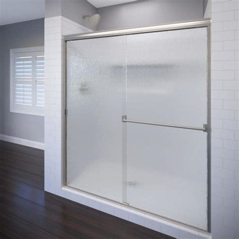 Basco Shower Doors Reviews Shop Basco Classic 44 In To 47 In Frameless Shower Door At Lowes