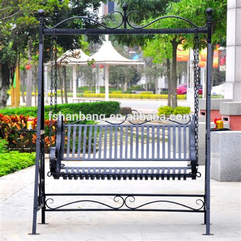 Outdoor patio garden wrought iron swing buy outdoor iron swing wrought iron patio swing garden