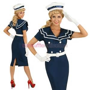 Home 50s navy pin up costume
