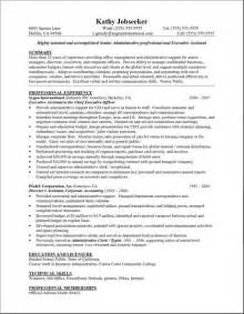 secretary assistant resume administrative assistant resume wording