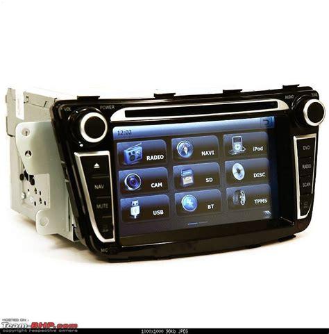hyundai fluidic verna upgraded  oem head unit  touchscreen navigation  team bhp