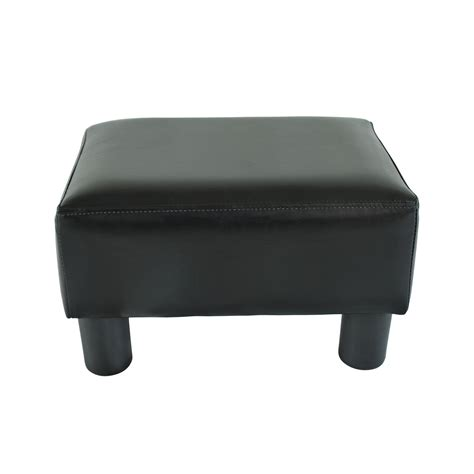 Leather Stool Ottoman Modern Faux Leather Ottoman Footrest Stool Foot Rest Small