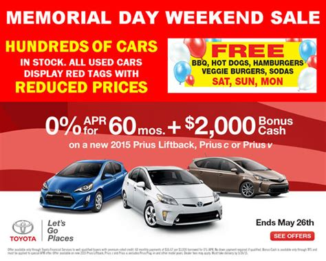 Toyota Memorial Day Sale 2015 Toyota Memorial Day Sale San Jose Ca