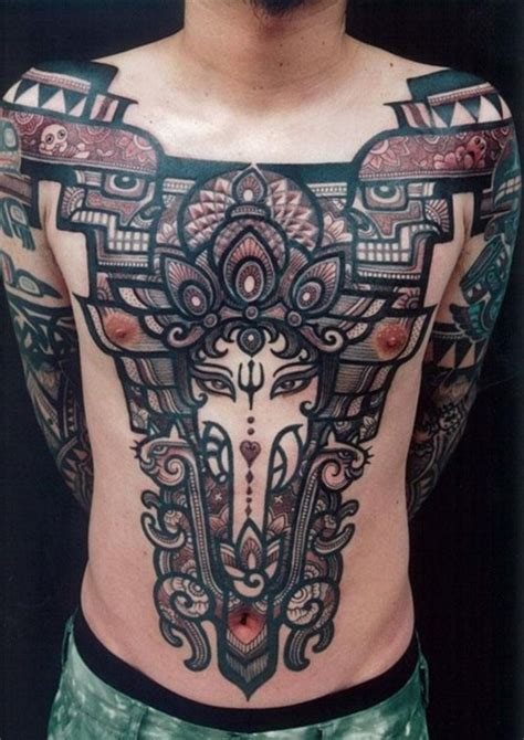 elephant tattoo chest piece amazing abstract elephant tattoo design tattoo ideas
