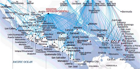 united route map united airlines route map mexico central america and the caribbean