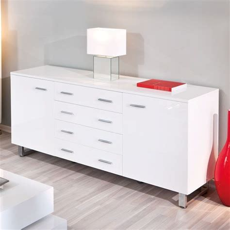 Bedroom Sideboard Furniture Arielle Buffet Sideboard In High Gloss White Sideboards Dining Room Furniture Bedroom Ideas