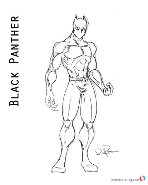 marvel movie coloring pages superhero black panther coloring page free printable
