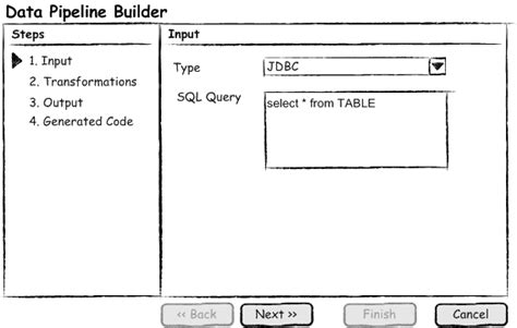 pipeline pattern java exle help us design a data conversion and transformation ui for