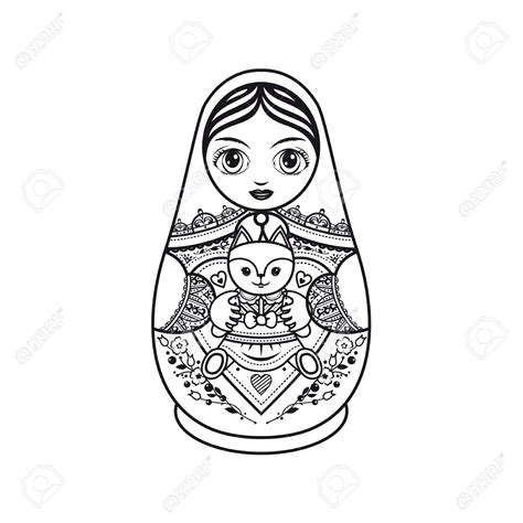 Russian Nesting Dolls Template by Russian Dolls Drawing At Getdrawings Free For