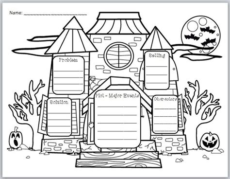 quot haunted house story elements quot graphic organizer house
