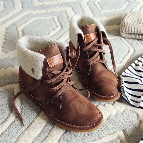 It Or Leave It The Must Winter Boots This Year Are Shearling Will You Be Cozying Up by The Snowy River Booties Cozy Booties From Spool No 72