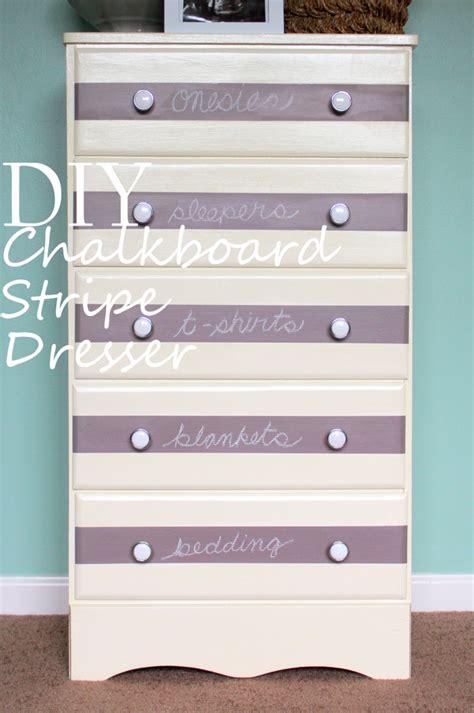 diy chalkboard stripe dresser for nursery project nursery