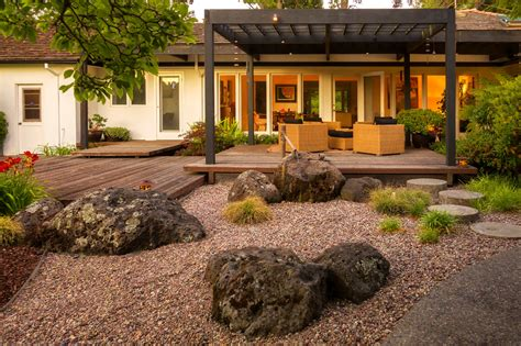 Rock Landscaping Ideas Backyard Chic Rock Garden Mode San Francisco Asian Landscape Image