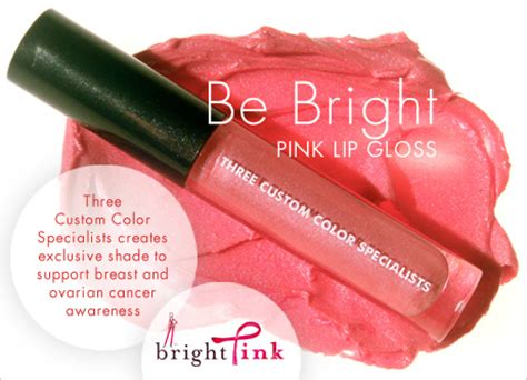 Exclusive 3 Custom Color Lip Glosses by Three Custom Color Specialists For Breast Cancer Awareness
