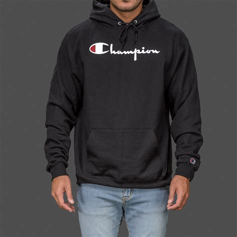 Hoodie Sweater Arch Linux Black Front Logo black chion classic pullover hoodie wehustle