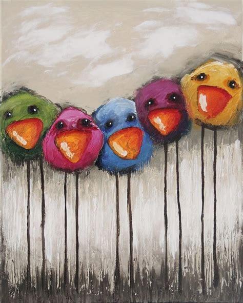 whimsical acrylic painting ideas original acrylic canvas painting whimsical bird richly
