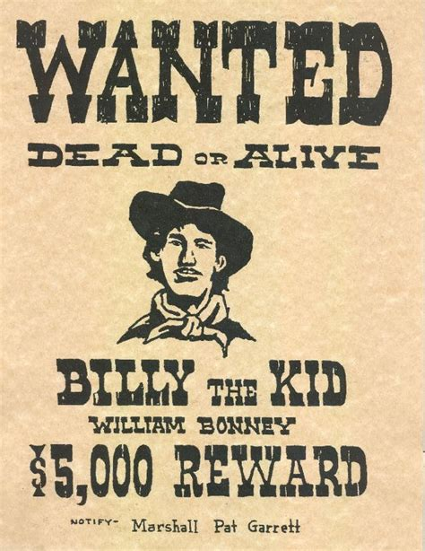 templates for wanted posters old west 7 best images of old west wanted posters printable old