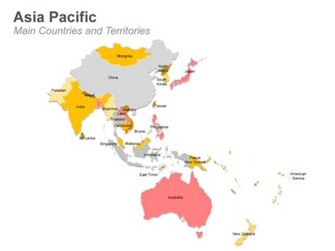 Asia Pacific Region Map Outline by Asia Pacific Map In Powerpoint Presentation Tools And Resources Scoop It
