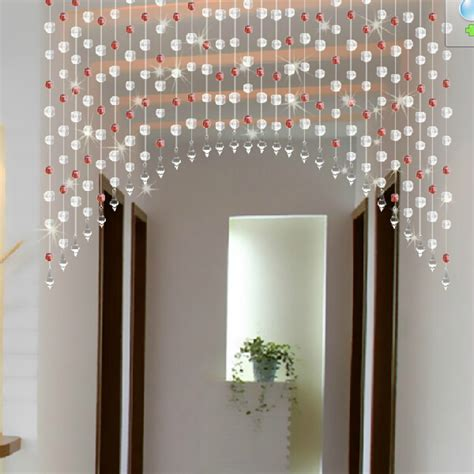 Diy Beaded Door Curtains Diy Acrylic Curtain Window Door Curtain Wedding Backdrop Pink Yellow Green Black