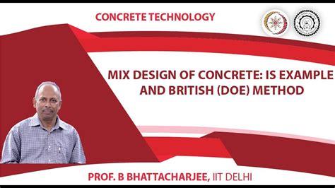 design mix is mix design of concrete is exle and british doe method