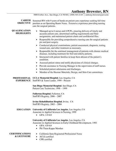 nursing career objective graduate resume objective statement experience