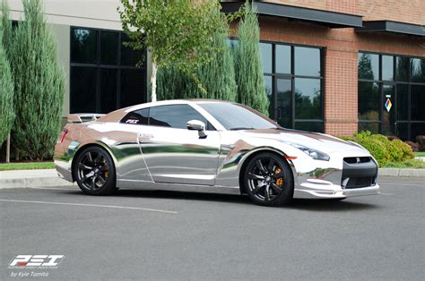 chrome nissan nissan gtr wrap vinyl chrome wallpaper 1600x1060