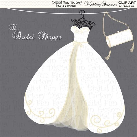 Wedding Dress Clipart Free by Wedding Dress Silhouettes Clip 37