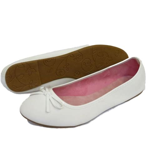 shoes that support flat womens flat white slip on shoes ballet ballerina
