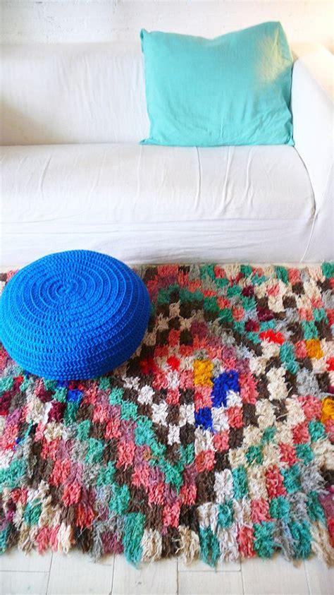 diy boucherouite rug vintage moroccan rag rug boucherouite quot runner quot shops wool and wool yarn