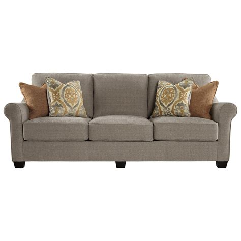 bench craft furniture benchcraft leola 5360138 contemporary sofa with reversible ultraplush seat cushions