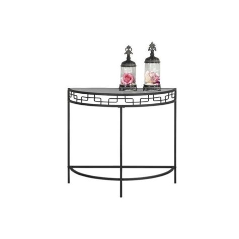 grey table l base console accent table in charcoal grey with metal base i 2111