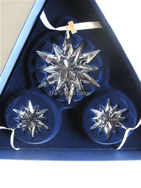 swarovski swarovski 2011 christmas ornament set one
