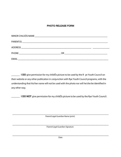 release form template 53 free photo release form templates word pdf ᐅ