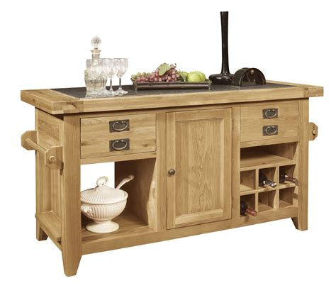 Oak Kitchen Island With Granite Top Panama Solid Oak Furniture Large Granite Top Kitchen Island Unit Ebay