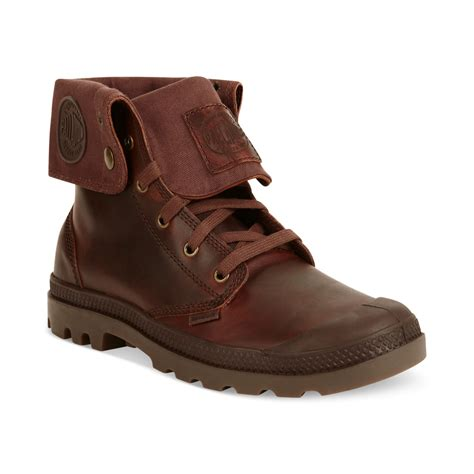 palladium boots mens palladium baggy leather boots in brown for russet