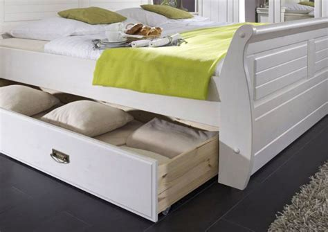 Bett Massivholz 180x200 Mit Bettkasten by Massivholz Bett 180x200 Holzbett Mit Bettkasten Kiefer