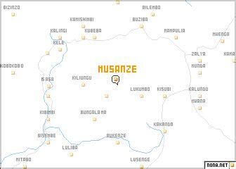 musanze (congo, democratic republic of the) map nona.net